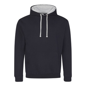 Felpa Hoodie a contrasto new french navy heather grey