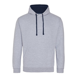Felpa Hoodie a contrasto heather grey french navy