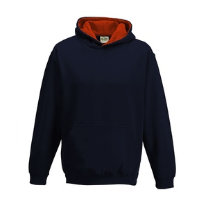 Felpa Hoodie Kids a Contrasto new french navy fire red