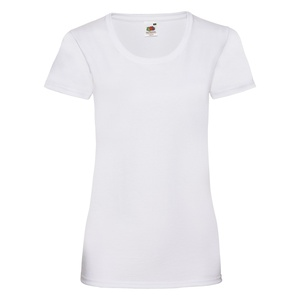 T-Shirt Ladies Valueweight T bianco