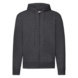 Felpa Hoodie con Zip dark heather grey