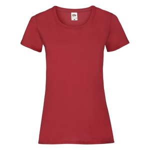T-Shirt Ladies Valueweight T red