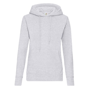 Felpa Hoodie Classic Ladies heather grey