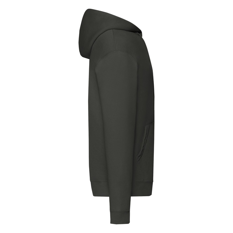 Felpa Hoodie con Zip light graphite