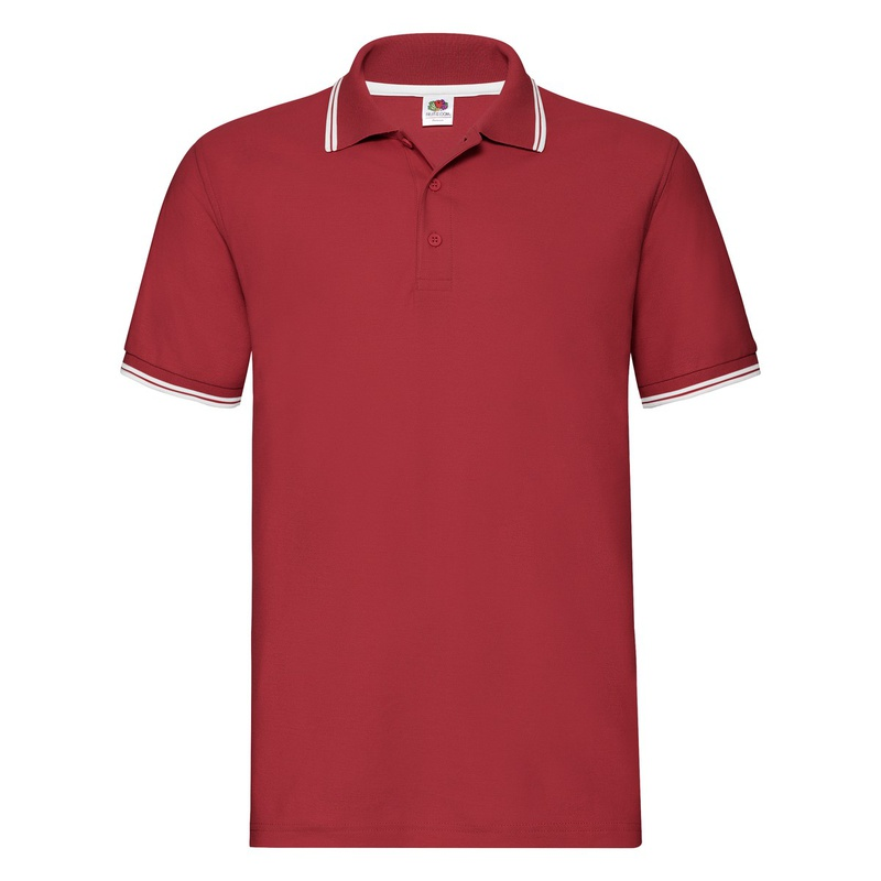Polo uomo Tipped red white