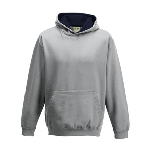 Felpa Hoodie Kids a Contrasto heather grey french navy