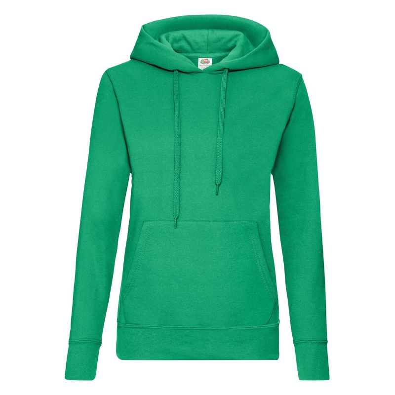 Felpa Hoodie Classic Ladies kelly green